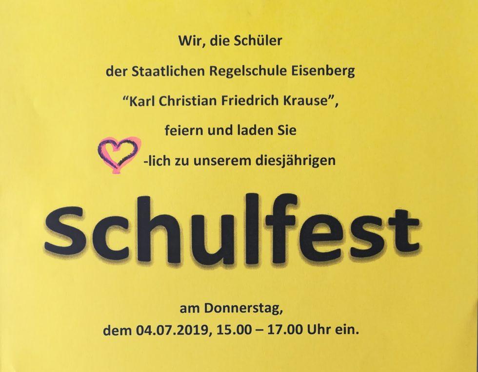 Herzliche Einladung zum Schulfest